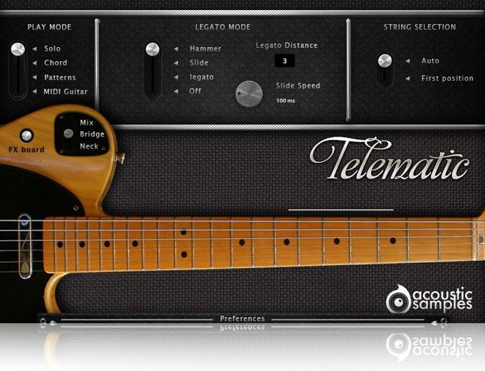 JRRshop.com | Acousticsamples Telematic V2 Fender Telecaster Library