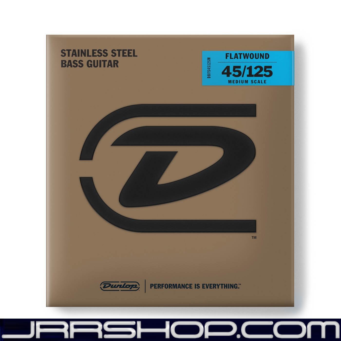Dunlop Bass Flatund Medium Scale String Set DBFS45125M BASS FLATTWND MD SCALE 4