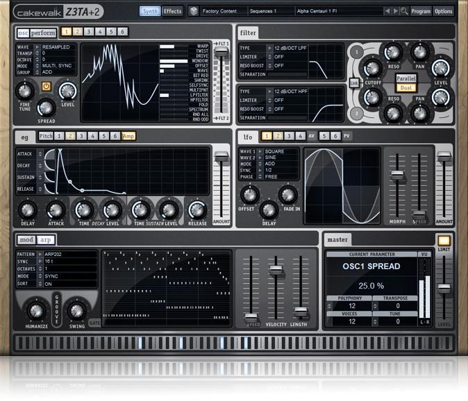 JRRshop com   Cakewalk Z3TA+ 2 Waveshaping Synth