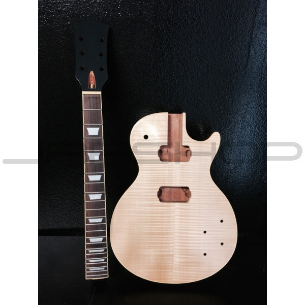 JRRshop com | Les Paul DIY Kit with Flame Maple Top and Mahogany Back