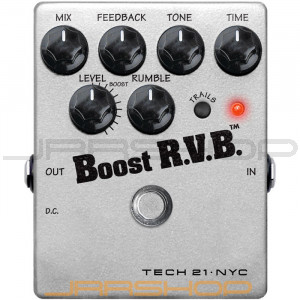 Tech 21 Boost R.V.B. Analog Reverb Emulator w/ Clean Boost