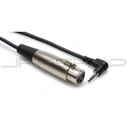Hosa XVM-249 Rt. Angle Stereo 3.5mm (M) to XLR (F) 1 ft.