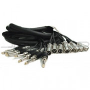 "Hosa CPP-803MTL 8-Ch Recording Snake Unbalanced 1/4"" 3m"