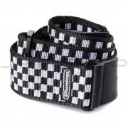 Dunlop Strap D38-31BK STRAP B+W CHECK-EA