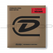 Dunlop Bass Flatwound Long Scale String Set DBFS45105 BASS FLATWND LG SCALE 45/105-4/SET