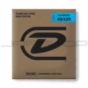 Dunlop Bass Flatwound Long Scale String Set DBFS45125 BASS FLATWND LG SCALE 45/125-5/SET