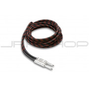 Hosa 3GT-18C5 Cloth Guitar Cable Straight to Same, 18 ft, BK/RD