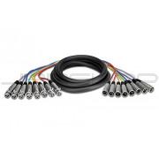 Hosa XLR-803 8-Ch Snakes XLR (M) to XLR (F) 3m