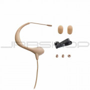 "Audio Technica BP893C-TH MicroEarset omnidirectional condenser headworn microphone with 55"" unterminated cable, beige"