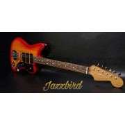 Tone Bakery Jazzbird Warmoth Roasted Neck & Seymour Duncan Pickups - Cherry Burst