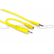 Hosa CMM-545Y Hopscotch Patch Cables, 3.5 mm TS with 3.5 mm TSF Pigtail to 3.5 mm TS, 5 pc, 1.5 ft