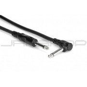 Hosa CPP-110R Unbalanced Interconnect, 1/4 in TS to Right-angle 1/4 in TS, 10 ft