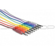 Hosa CSS-830 Balanced Patch Cables, 1/4 in TRS to Same, 1 ft