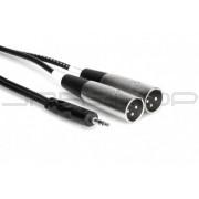 Hosa CYX-402M Stereo Breakout, 3.5 mm TRS to Dual XLR3M, 2 m