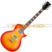 ESP-LTD EC256 Cherry Sunburst Flame Top