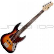 ESP LTD J-205 3-Tone Burst 5-String Bass Guitar