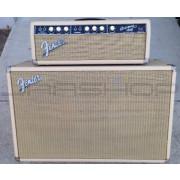 """Vintage 1964 Fender Bassman 6G6-B Blonde w/ Matching 2x12"""" Jensen Cabinet"""