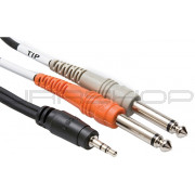 Hosa Cmp-153 3ft Stereo Y-Cable 3.5MM TRS TO Dual 1/4 TS