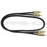 Hosa CRA-405G Gold Plated Dual RCA 5 ft.