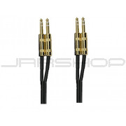 "Hosa CSS-403G Gold Plated Dual TRS 1/4"" 3 ft."