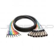 """Hosa STX-802M 8-Ch Snakes XLR (M) to TRS 1/4"""" (M) 2m"""