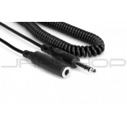 Hosa HPE-325C Headphone Extension Cable, 1/4 in TRS to 1/4 in TRS, 25 ft