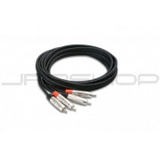 Hosa HRR-050X2 Pro Stereo Interconnect, Dual REAN RCA to Same, 50 ft