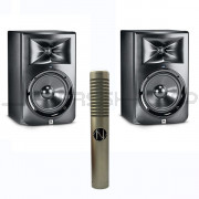 JBL LSR308 Monitors (Pair) + NOS Panther MK 2 Ribbon Mic Combo