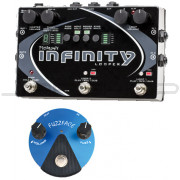 Pigtronix Infinity Looper + Dunlop FFM1 Fuzz Face Mini Silicone Pedal Combo