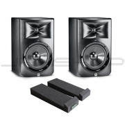 "JBL LSR308 8"" Monitors - Pair + Monitor Pads Combo"