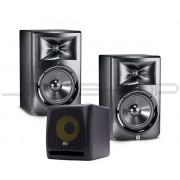 """JBL LSR308 8"""" Monitors (Pair) + KRK KRK10S 10"""" Subwoofer"""