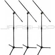 Ultimate Support MC-40B Pro 3-Pack Mic Stand with Boom Black