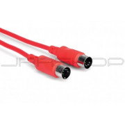 Hosa MID-305RD MIDI Cable, 5-pin DIN to Same, 5 ft
