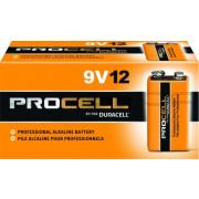 Hosa PRO-9V12 Duracell Procell Batteries, 9V, 12 pc