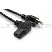 Hosa PWC-148R Power Cord, Right-angle IEC C13 to NEMA 5-15P, 8 ft