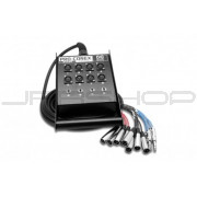 Hosa SH-8X4-100 Pro-Conex Stage Box Snake 8 x XLR Sends and 4 x 1/4 in TRS Returns, 100 ft