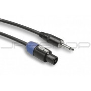 Hosa SKT-4100Q Pro Speaker Cable, REAN Loudspeaker to 1/4 in TS, 100 ft