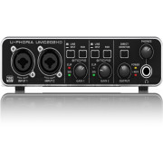 Behringer UMC202HD Audiophile 2x2 24-Bit 192 kHz USB Audio Interface