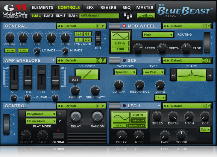 JRRshop com | Gospel Musicians BlueBeast Yamaha EX5 Virtual Instrument
